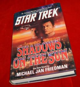 Star-Trek-Shadows-on-the-Sun-by-Michael-Jan-Friedman-1993-Hardcover