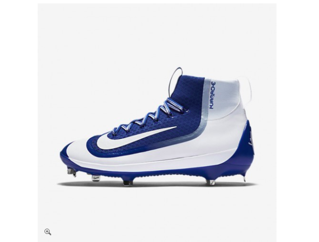 quality design e8c62 f5f0e Nike Air Huarache 2k Filth Elite Mid Baseball Cleat Size 12 Blue White  749359