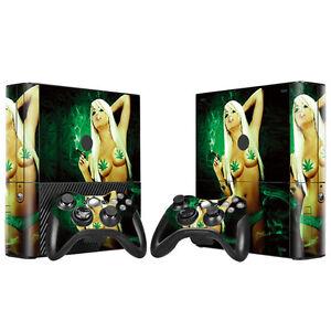 Video Games & Consoles Xbox One S Skin Design Foils Aufkleber Schutzfolie Set Video Game Accessories Cannabis 2 Motiv