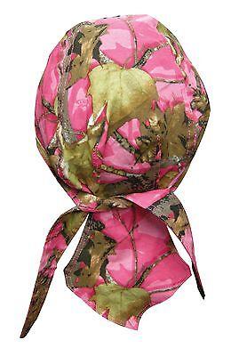 Pink Hunting Camp Camo Bandana Biker Doo Do Du Rag Head wrap Skull cap Capsmith