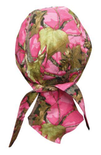 Pink Hunting Camp Camo Bandana Biker Du Rag Head wrap cap  Doo Capsmith