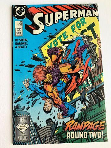 DC Comics VF//NM SUPERMAN #24 1988
