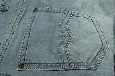 NEW DESIGNER JEANS Gardeur 33 X 30 Blue Cashmere Touch STRETCH Cotton $250