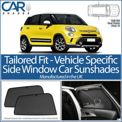 Fiat 500L MPV 5dr 2012 /> Coche Tonos Reino Unido a MEDIDA UV SOL persianas Privacidad Ventana Lateral
