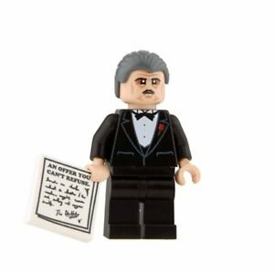 Custom-Printed-THE-GODFATHER-Lego-Minifigure-Genuine-Lego-w-Printing-NEW