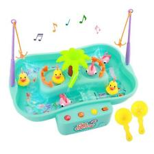 Zooawa Kids Fishing Game Toy Set Music Water Table Floating Fish Duck Playing