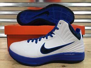 buy popular 84070 83c57 Image is loading Nike-Lunar-Hypergamer-Basketball-Shoes-White-Treasure-Blue-