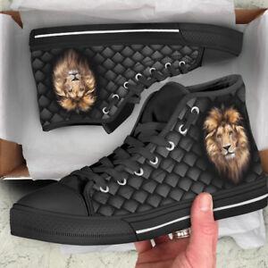 Lion Head Custom Canvas Shoes