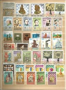 Scacchi lot FRANCOBOLLI sellos Stamps Timbres