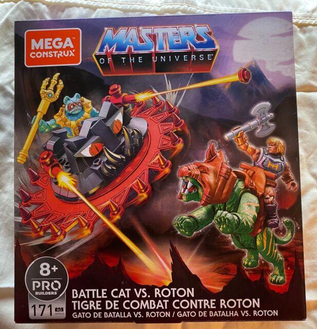 Masters of the Universe Mega Construx He-Man Battle Cat vs Roton MOTU Sealed Set