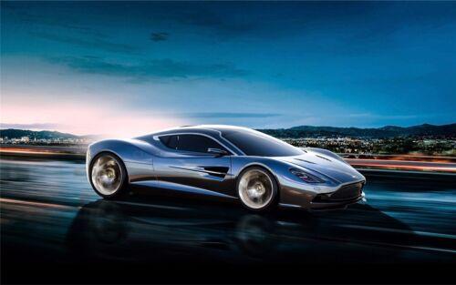 "Aston Martin Luxury Super Race Car Art Silk Wall Poster 21/""x13/""  014"