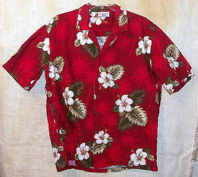 Pacific Legend Hawaiian Shirt Red Floral  Hibiscus