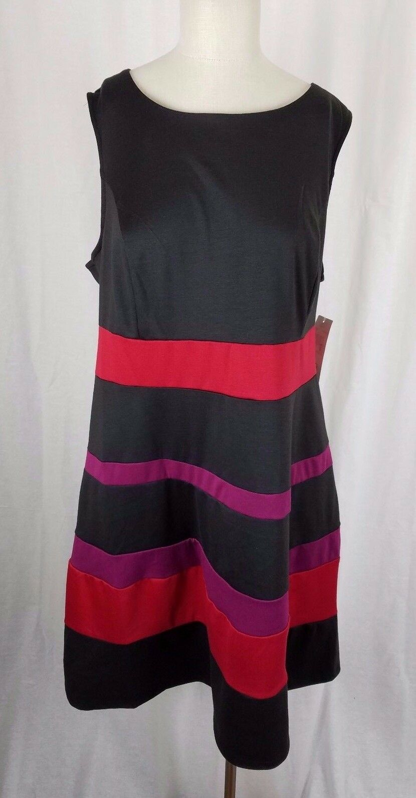 NWT New Directions Woman Striped Jersey Knit Jumper Tunic Dress Womans 2X Plus