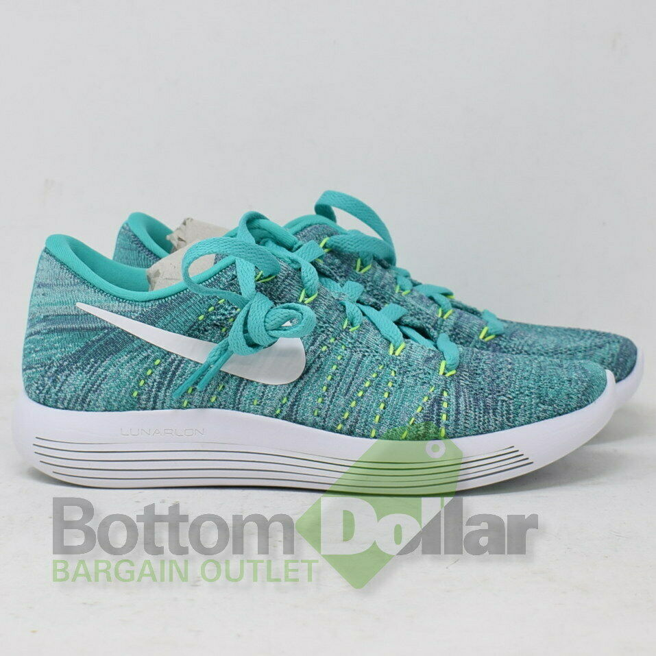 e31402a15b26 Nike Women s Lunarepic Low Flyknit Running shoes Clear Jade Jade Jade White-Ocean  bluee (