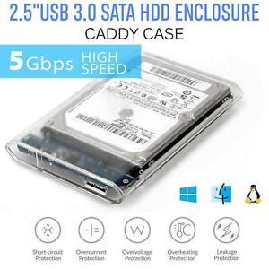 """2.5"""" Usb 3.0 Sata 3 5 Gbit/s Boîtier De Disque Dur Caddy Case For External Hdd/ssd-afficher Le Titre D'origine"""