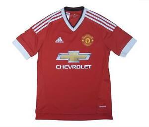 Manchester United 2015-16 ORIGINALE Maglietta (eccellente) XL Ragazzi Calcio Jersey