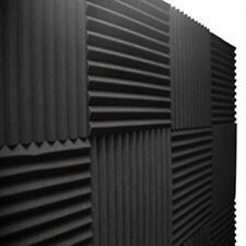 12 pcs acoustic wall panels foam black sound proof deadening foam wedges studio