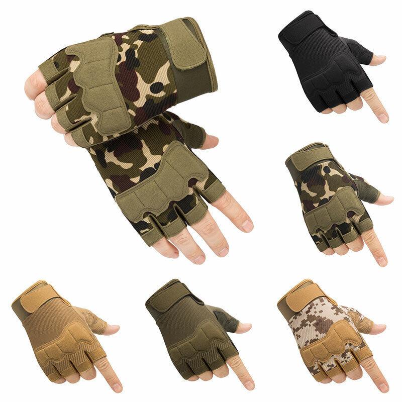 Unisex Halbe Finger Schießen Training Handschuhe Herren Taktische SPORTS Au