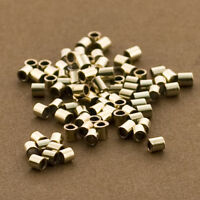 100pc, Gold Crimps, Gold Filled 14/20 Crimp Beads. 2mm x 2mm tubes. Strong crimp