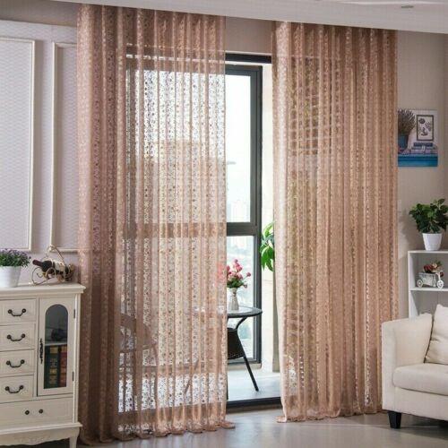 Spitze Stickerei Blumenmuster Vorhänge Stoff Panel Netz Tüll Fenster Drapiert