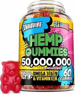 H*mp Gummies - 50.000.000 60PCS - Stress, Insomnia & Anxiety Relief, Omega 3-6-9