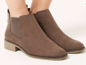 cheap catch beautiful style Details about M&S Insolia Flex Wide Fit Comfort Walk Faux Suede Chelsea  Boots Size 4