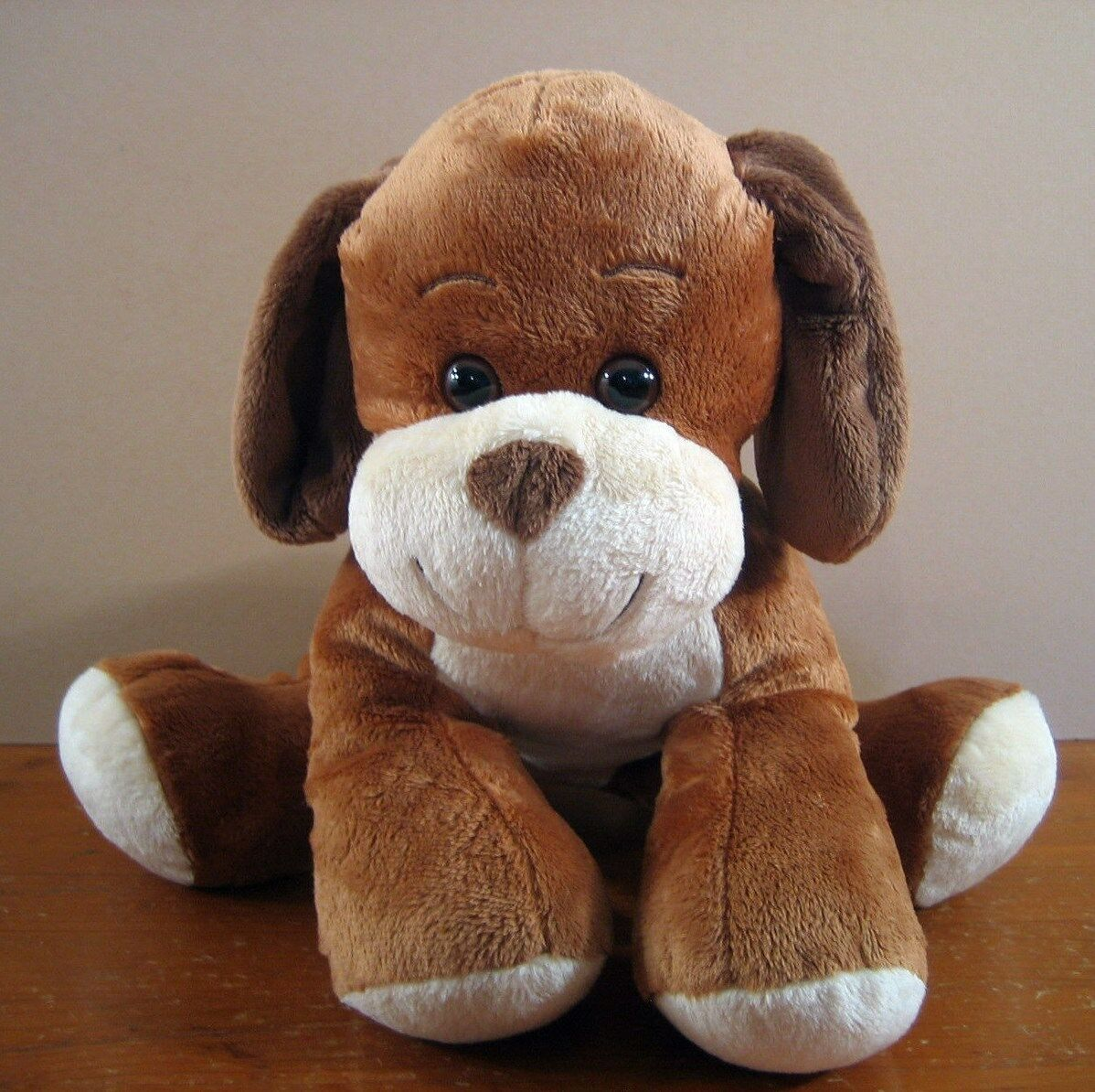Puppy Dog Build A Bear 2010 2010 2010 Brown Tan Soft needs repair in seam on top 444f87