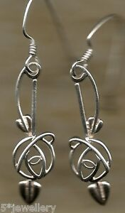 Image Is Loading Real Sterling Silver 925 Dangling Drop Stud Rennie