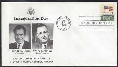 1//20//85 cancel Reagan 2nd Term Inaugural cover LEB Photo with Nancy cachet