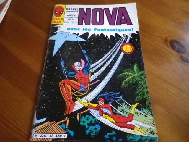 NOVA n° 42 de 1981 SPIDER MAN - SPIDER WOMAN - LES FANTASTIQUES TBE comme neuf.