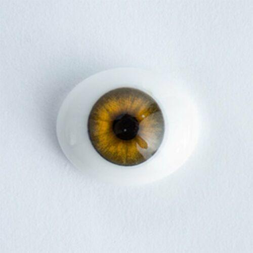 #1394 Oval Glass Eyes 1 Pair 20mm Light Brown//Hazel Iris E