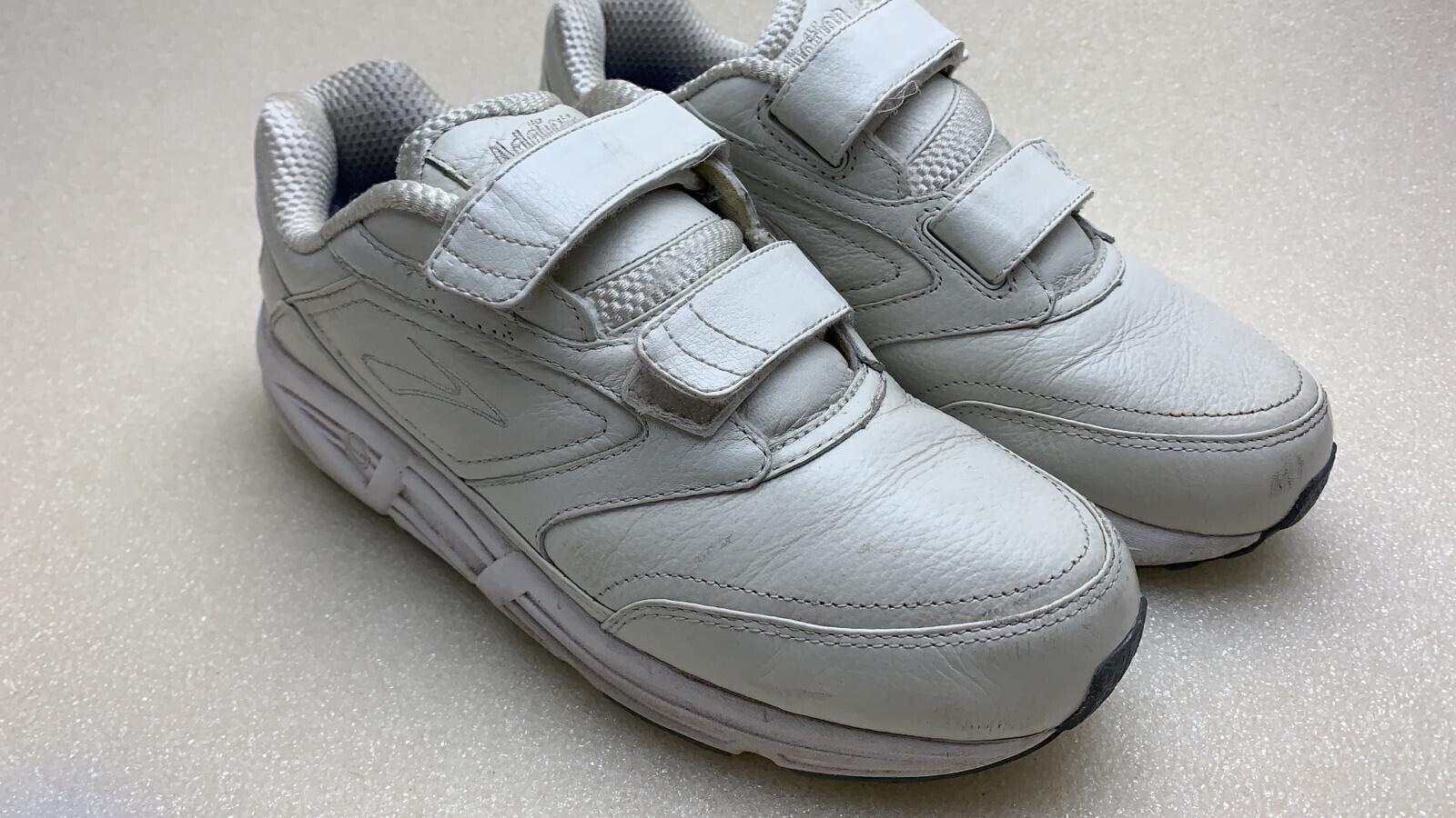 b94ed1e006515 Brooks Dyad Walker Walking Shoes Wide Width White Leather Women s Size 7d  for sale online