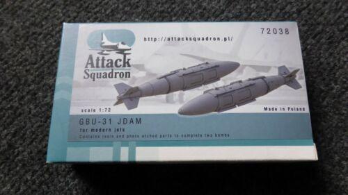 Attack Squadron Resin 2x GBU-31 JDAM 1//72