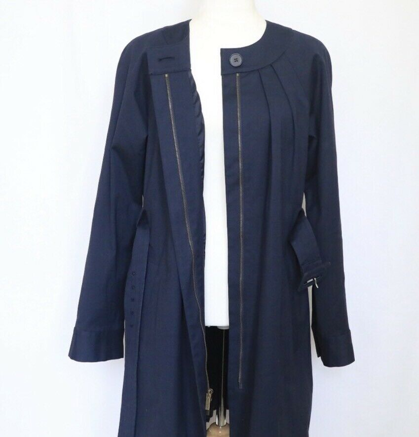 THEORY Women's Navy Blue Idola Connect Trench Coa… - image 8