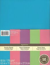 """New Recollections 8.5x11"""" Cardstock Paper Punchy Florals #1 50 Sheets"""