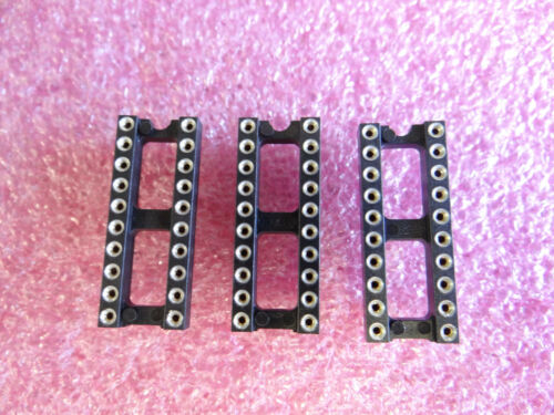 3 x DIP20 IC-Fassung IC-Sockel DIL20 Präzisionsfassung