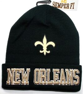 6b896a4a20e58f READ LISTING! New Orleans Saints Flat Logo on 3D Embroidered Beanie ...