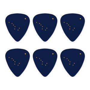 Adaptable Alaska Etat Drapeau Nouveauté Guitar Picks Medium Gauge-lot De 6-afficher Le Titre D'origine à Vendre