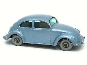 Matchbox-Lesney-25b-VOLKSWAGEN-ESCARABAJO-mas-raro-Plata-ruedas-de-plastico