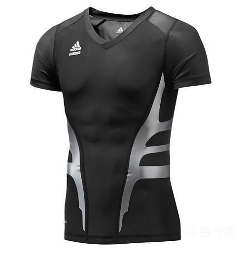 Adidas PWeb S S T-Shirt Powerweb Techfit Multifunktion schwarz Herren Gr. M-4XL  | Helle Farben