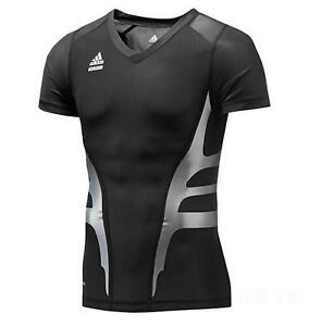 Adidas-PWeb-S-S-T-Shirt-Powerweb-Techfit-Multifunktion-schwarz-Herren-Gr-M-4XL