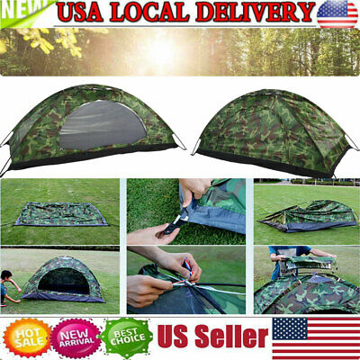 Brand New 1-3 Person Outdoor Camping Tent Waterproof UV Protection Camouflage