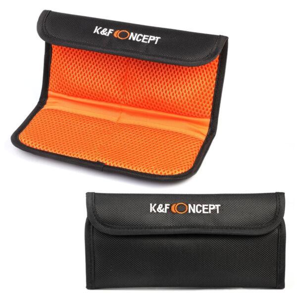 Discret K&f Concept 49mm-77mm 4-poches Fente Lentille Filtre Pochette étui Portefeuille Pour Uv Circulaire Polariseur Densité Neutre