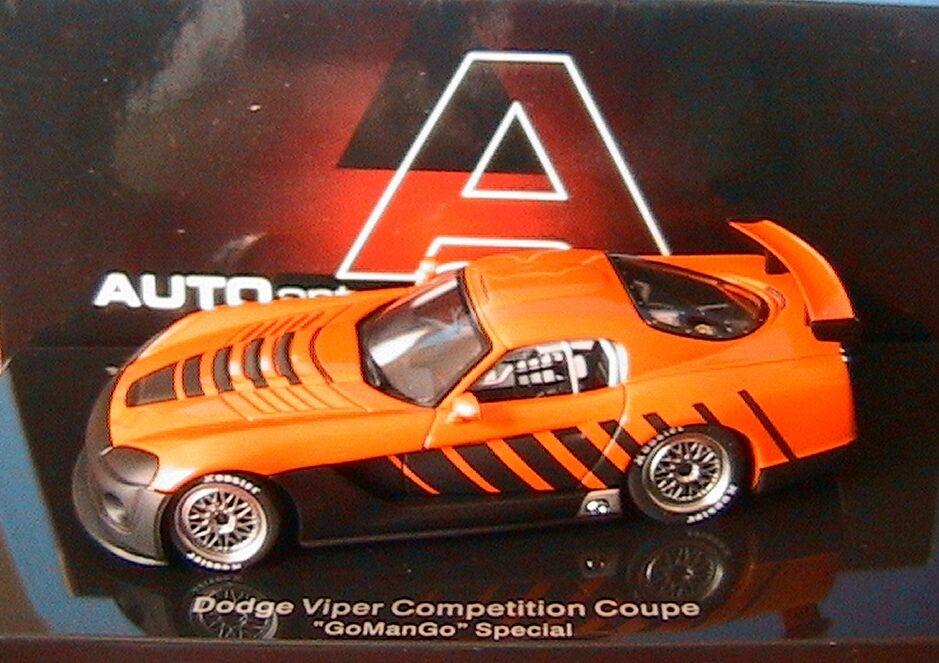 DODGE VIPER COMPETITION COUPE GO MAN GO Orange NOIR AUTOART   60422 1 43 CAR