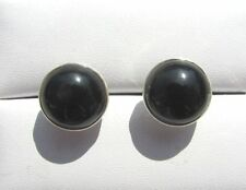 Onyx Ohrstecker 10,5 mm 925 Silber E7116  studs-orecchino-dormeuses