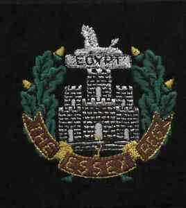 Details about Lancashire Embroidery Essex Reg blazer badge