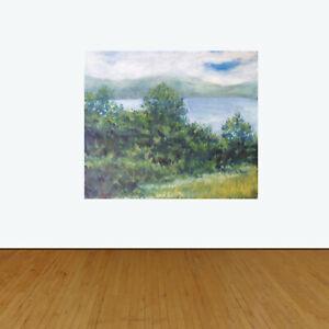 Lake-Waramaug-Washington-Connecticut-Original-Oil-Painting-W-Gray-20-034