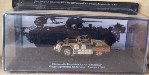 """DIE CAST TANK /"""" CAMIONETTA DESERTICA AS 42 TUNISIA 1943 /"""" BLINDATI 040 1//72"""
