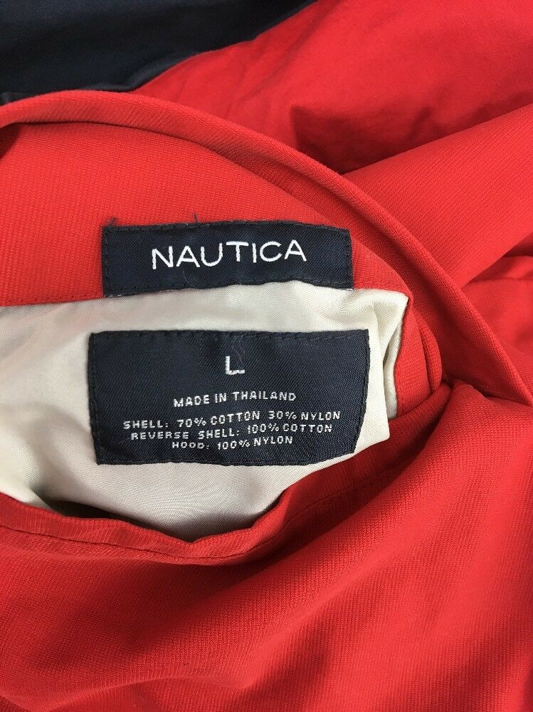 Nautica Jacket Vintage Reversible Bomber Men L La… - image 12