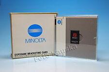 Minolta Exposure Bracketing Card Karte carte  - (81878)